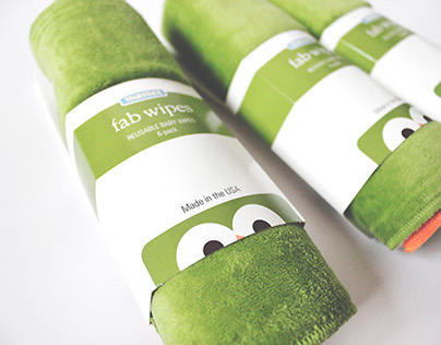 "Thirsties Product Packaging ""Fab Wipes"""