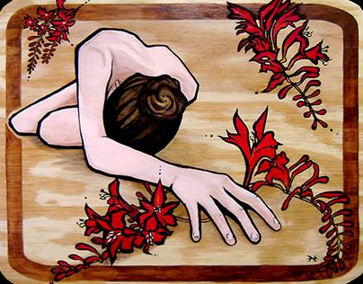 """Plant Life"" -- Acrylic Painting Series on Wood"