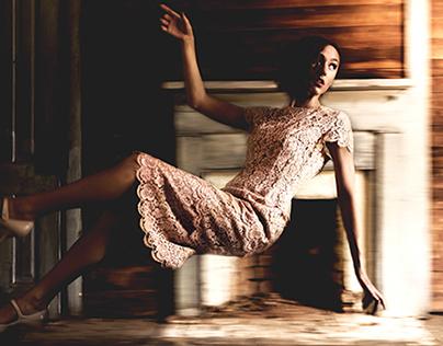 """The Loray"" with model Mary Elizabeth Spradley"