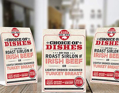 BBQ Restaurant - Poster and Table Tent