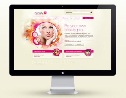 Beauty VT - Pre-launch Microsite Design