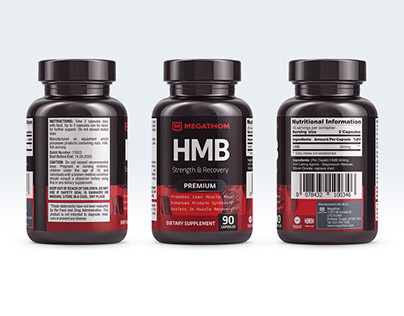 Megathom – Supplement Packaging Label Design and Logo