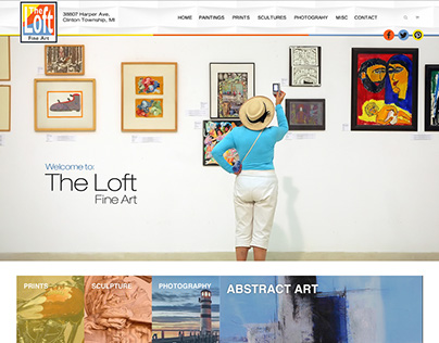 Web Design: Loft Fine Art Re-design