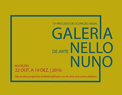 Edital de ocupação de Galeria de Arte Nello Nuno 2017