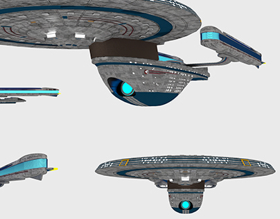 Star Trek Ships: Excelsior All Views
