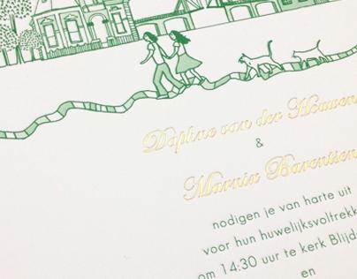 Journey Through Amsterdam Wedding Invite