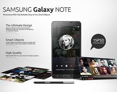 Samsung Galaxy Note Mockups