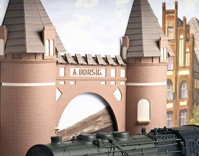 Relief model Borsigtor Berlin in 1:87 scale for Märklin