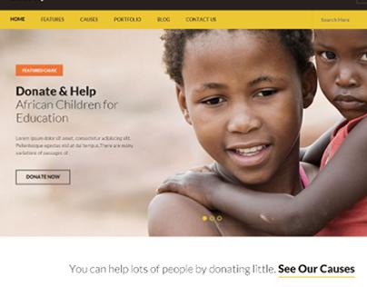 Charity - Nonprofit/NGO/Fundraising HTML Template on Behance