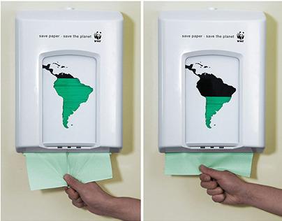 KAMPANGE FOTO: WWF PAPER DINPENSER