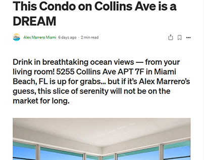 This Condo on Collins Ave is a DREAM