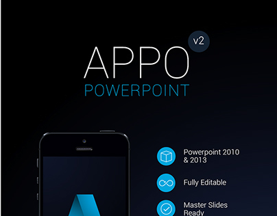 App Powerpoint Template for Mobile Applications
