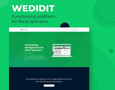 WeDidIt - Fundraising website - Web Design