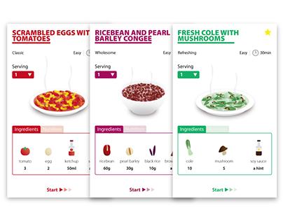 An interactive recipe