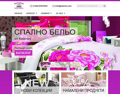 Web Site Design for a Linen Manufacturer