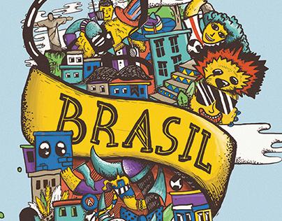 Brasil wc poster