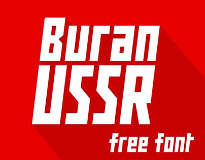 Buran USSR (free font)