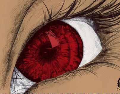 Pintura Digital - Olho Vermelho
