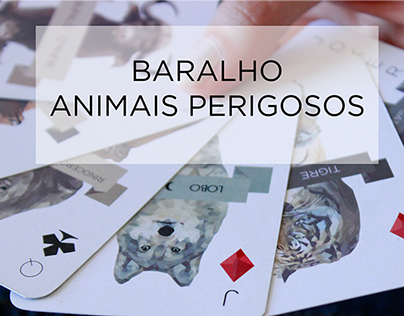 Baralho Animais Perigosos - Animal Playing Card
