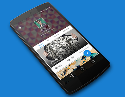 Behance Android L Redesign ( Material Design)