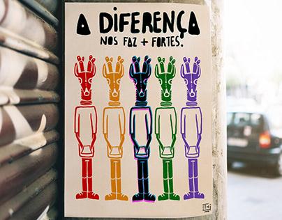 """""""A diferença nos faz + fortes"""""""