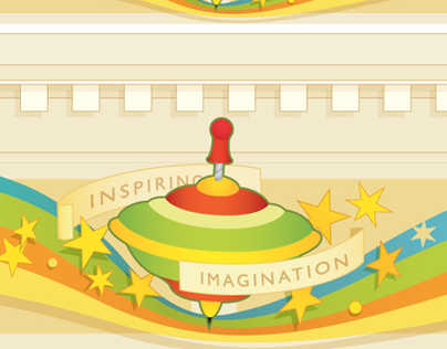 Toy store logo, branding and signage