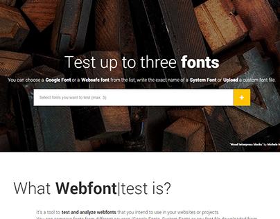 webfont|test webapp - Test and Analyze Webfonts