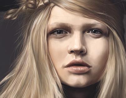 Katia Elizarova Portrait Digital Painting