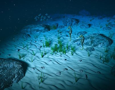 Deep sea ocean floor