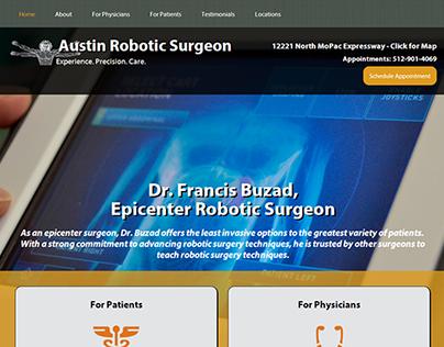 Austin Robotic Surgeon website design & development