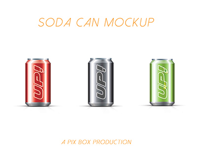 SODA CAN MOCK UP