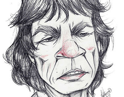 Mick Jagger cartoon