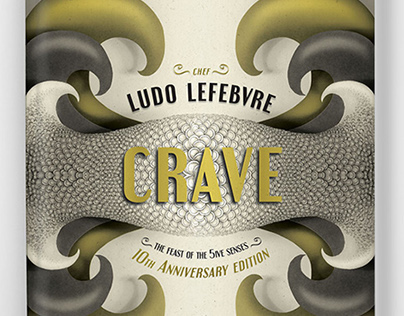 """Crave"" Book Cover Design for Chef Ludo Lefebvre"