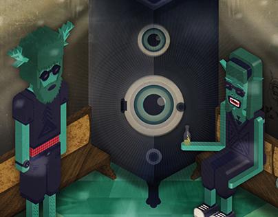 poster design for bassstube party