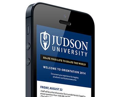 Judson University Orientation Schedule 2014