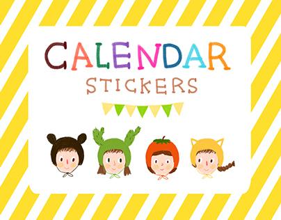 Calendar Stickers Illustration