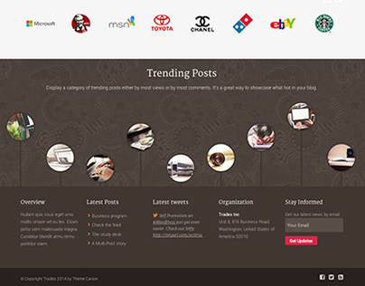 New Skin Briefcase - Trades Business WordPress Theme