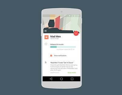 Material Design Countdown App UI (Motion)