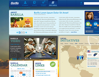 Barilla Pasta - Intranet concepts