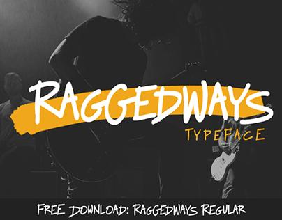 Raggedways Typeface: Free Regular Weight
