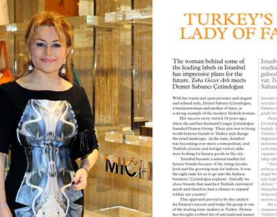 First Lady of Fashion: Feature interview ShopIstanbul