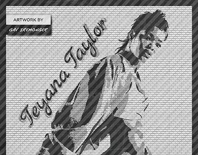 Teyana Taylor | Graphic Art | In Black & White