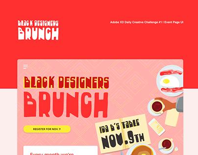 Black Designers Brunch (Event Page UI Challenge)
