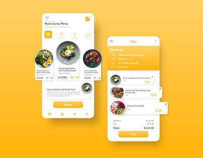 Order Menu Mobile App