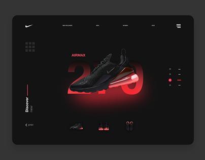 Nike Air Max 270 Black & Hot Punch