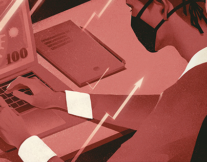 PSB Bank editorial illustrations