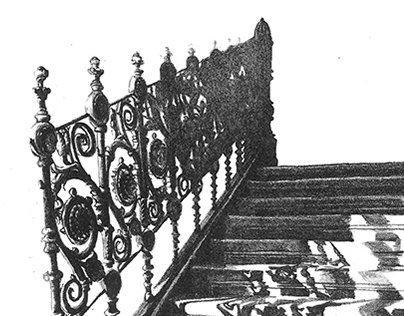 Stairs- (litography)