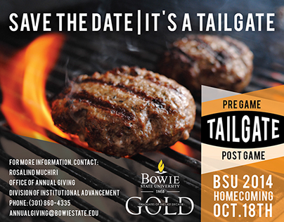 Bowie State Save the Date  It's A Tailgate ad