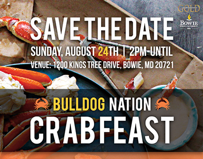Bulldog Nation Crabfeast Save the Date ad