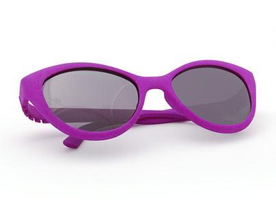 3D printed hingeless sunglasses